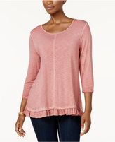 Style&Co. Style & Co Ruffle-Hem Tunic, Created for Macy's