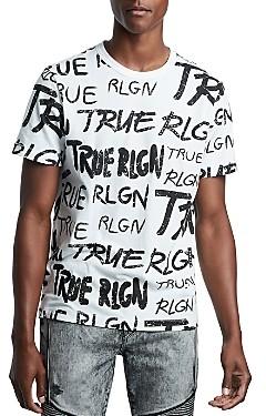 True Religion All-Over Graphic Logo Tee