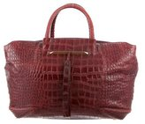Brian Atwood Embossed Leather Grace Bag