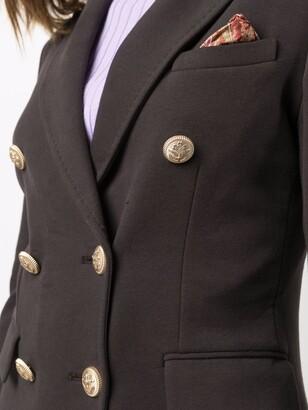 Circolo 1901 Peak-Lapels Double-Breasted Blazer
