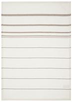 John Lewis Thick Waffle Stripe Tea Towel, Beige