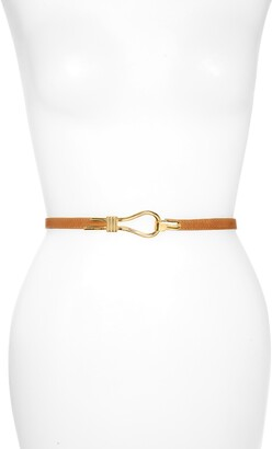 Raina Hitch Loop Clasp Leather Belt