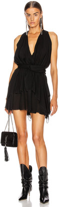 Redemption Geo Mini Dress in Black | FWRD