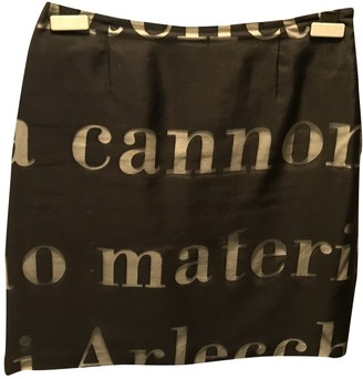 Moschino Cheap & Chic Moschino Cheap And Chic Black Silk Skirt for Women Vintage