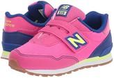 New Balance 515 Hook Loop (Infant/Toddler) (Exhuberant Pink/Marine Blue) Girls Shoes
