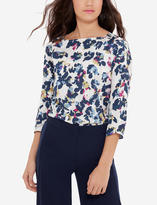 The Limited Printed Boatneck Blouse