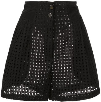 Fleur Du Mal Sheer High-Waisted Shorts