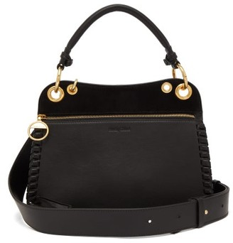 See by Chloe Tilda Whipstitched Leather Bag - Womens - Black