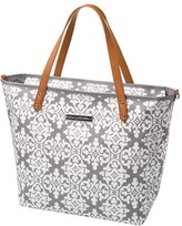 Petunia Pickle Bottom Infant Girl's 'Downtown' Glazed Canvas Tote - Grey