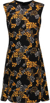 Giambattista Valli Silk-trimmed printed wool mini dress