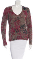 Etro Wool Floral Print Sweater