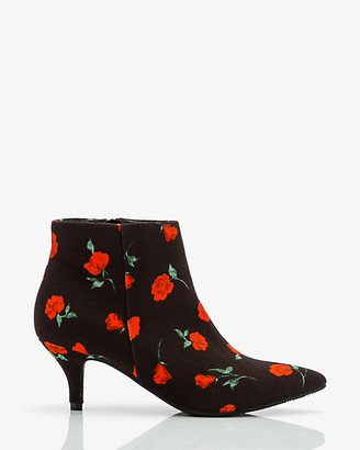 Le Château Floral Print Pointy Toe Ankle Boot