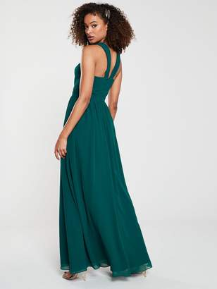 Very Twist Front Maxi Dress - Green