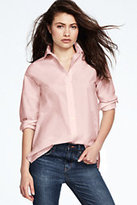 Lands' End Women's Boyfriend Shirt-Midnight Indigo Floral