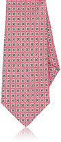 Kiton Men's Star-Medallion-Print Silk Necktie