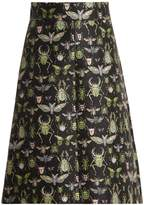 RED Valentino Bug-jacquard high-rise A-line skirt