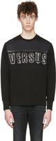Versus Black Staple Logo Pullover