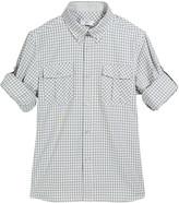 Stefano Ricci Boys' Check Long-Sleeve Ski Shirt