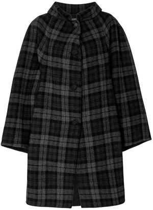 Balenciaga Wool-blend checked coat