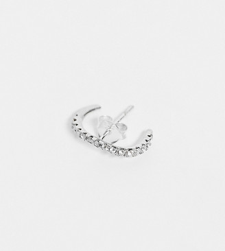 Kingsley Ryan Exclusive single ear piercing cuff in sterling silver with crystals