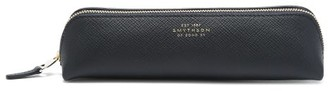 Smythson Panama Leather Pencil Case - Navy