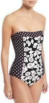 Kate Spade Aliso Beach Printed Bandeau One-Piece Swimsuit