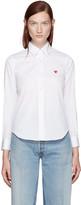 Comme des Garcons White Poplin Small Heart Shirt