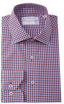 Lorenzo Uomo Double Gingham Trim Fit Dress Shirt