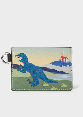 Paul Smith Men's Multi-Coloured 'Dino' Leather Credit Card Holder