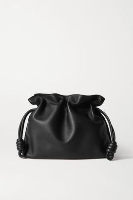 Loewe Flamenco Leather Clutch - Black