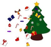 3.6FT(Large) Felt Christmas Tree Set with Ornaments - Double Stitched- Wall Hanging-Handmade