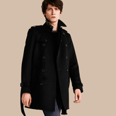 Burberry Wool Cashmere Trench Coat , Size: 50, Black