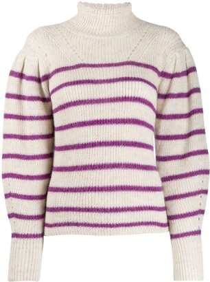 Etoile Isabel Marant striped turtleneck jumper