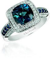 Le Vian Chocolatier Le Vian 14ct Vanilla Gold Deep Sea Blue Topaz Diamond Ring