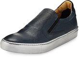 Robert Graham Rolo 3 Lizard-Embossed Skate Sneaker, Blue
