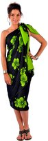 La Fleva 1 World Sarongs Womens PLUS Size Asian Floral Swimsuit Cover-Up Sarong in
