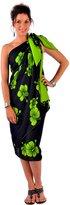 La Fleva 1 World Sarongs Womens PLUS Size FRINGELESS Hibiscus Sarong in
