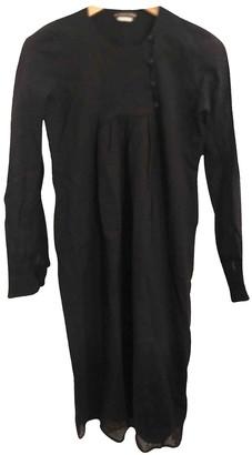 Les Prairies de Paris Black Wool Dress for Women
