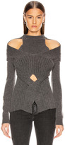 Dion Lee Cashmere Cable Tie Sweater in Charcoal | FWRD