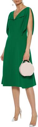 Oscar de la Renta Flared Wool-blend Crepe Dress
