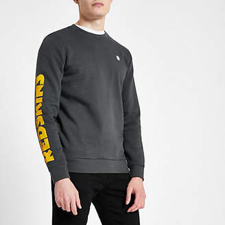 River Island Only and Sons grey NFL 'Redskins' sweatshirt