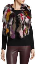 Adrienne Landau Women's Multi Fur Vest