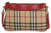 Burberry 'Peyton - Horseferry Check' Crossbody Bag - Red
