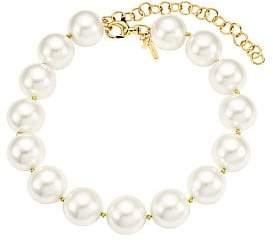 Lele Sadoughi Women's Oversized Faux Pearl Collar Necklace