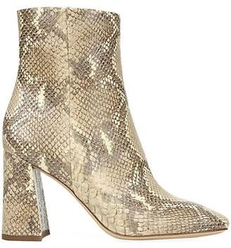 Sam Edelman Codie Snakeskin-Embossed Ankle Boots