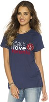 Peace Love World Peace Love Toronto Raptors Navy Mini Mimi Crew Neck Tee