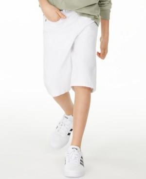Epic Threads Big Boys Stretch White Denim Shorts, Created for Macy's