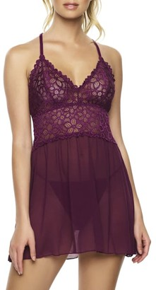 Jezebel Renee Lace & Mesh Babydoll Set