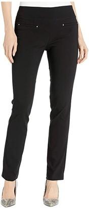 Elliott Lauren Control Stretch Pull-On Pants with Welt Pockets (Black) Women's Casual Pants