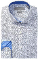 Perry Ellis Leaf Print Slim Fit Dress Shirt